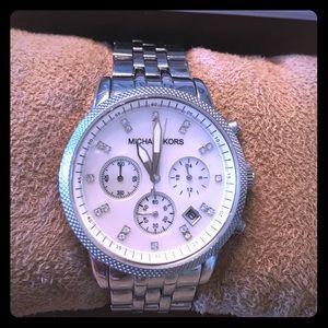 Michael Kors, Women's Ritz Silver-Tone Watch, 38mm